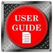 User guide metalliska ikonen — Stockfoto