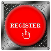 Register metallic icon — Stock Photo