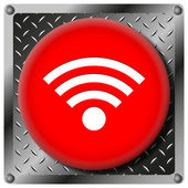 Wireless sign metallic icon — Foto Stock