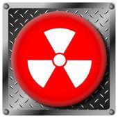 Icône métallique de rayonnement — Photo
