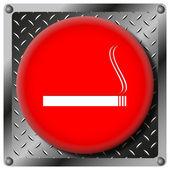 Icône métallique de cigarette — Photo