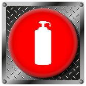 Soap metallic icon — Stock Photo