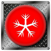 Snowflake metallic icon — Stock Photo