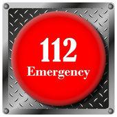 112 緊急金属アイコン — ストック写真