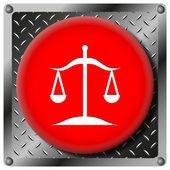 Balance metallic icon — Stock Photo