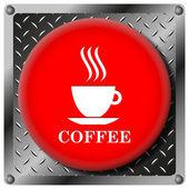 ícone metálico do copo de café — Foto Stock