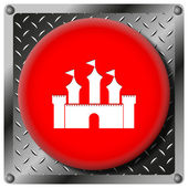 Castle metallic icon — Stock Photo