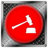 Icône métallique marteau de juge — Photo