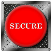 Secure metallic icon — Stock Photo