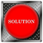 Solution metallic icon — Stock Photo