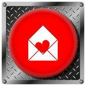 Send love metallic icon — Stock Photo