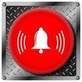 Bell metallic icon — Stock Photo