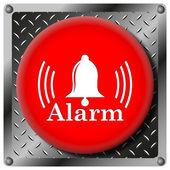 Alarm metallic icon — Stock Photo