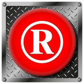Registered mark metallic icon — Stock Photo