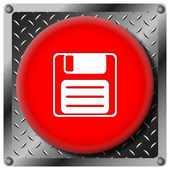 Save metallic icon — Foto de Stock