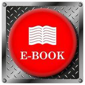 E-book metallic icon — Stock Photo