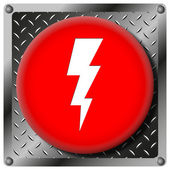 Lightning metallic icon — Stock Photo