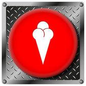 Ice-cream metallic icon — Stock Photo
