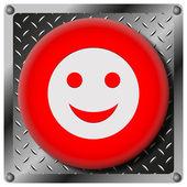 Smiley metallic icon — Stock Photo