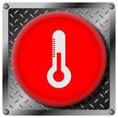 Thermometer metallic icon — Stock Photo