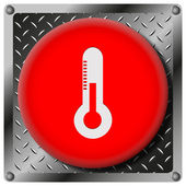 Icono metálico termómetro — Foto de Stock