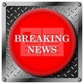 Breaking news metalik simgesi — Stok fotoğraf