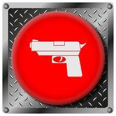 銃金属アイコン — ストック写真