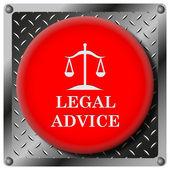 法的なアドバイス金属アイコン — ストック写真