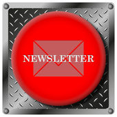 Newsletter metallic icon — Stock Photo