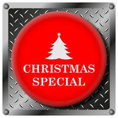 Icono metálico especial navidad — Foto de Stock