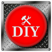 DIY metallic icon — Foto de Stock