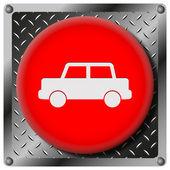 Car metallic icon — Stock Photo
