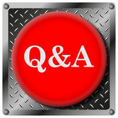 Q&A metallic icon — Stock Photo