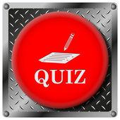 Quiz metallic icon — Stock Photo