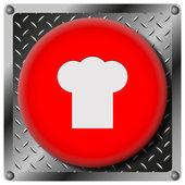 Chef metallic icon — Stock Photo