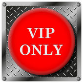 VIP only metallic icon — Stock Photo