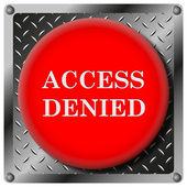 Access denied metallic icon — Stock Photo