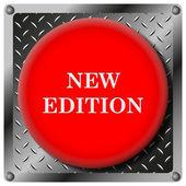 Nuevo icono metálico de edición — Foto de Stock
