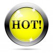 Hot icon — Stock Photo #31682519