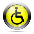 Wheelchair icon — Stock Photo #31682685