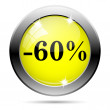 60 percent discount icon — Foto de Stock