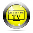 As seen on TV icon — Stock Photo #31682925