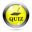 Quiz icon — Stock Photo