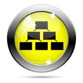 ícone de gráfico organizacional — Foto Stock