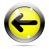 Vänster pil-ikonen — Stockfoto