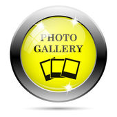 Photo gallery icon — Stock Photo