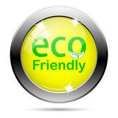 Eco friendly ikona — Stock fotografie