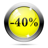 40 percent discount icon — 图库照片