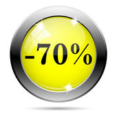 70 percent discount icon — 图库照片