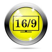 16 9 icône tv — Photo